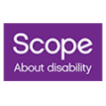 Scope About disability logo
